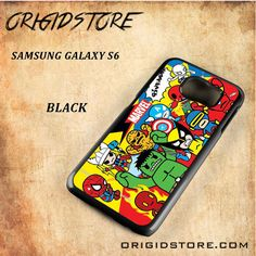 Marvel Assemble Black White Snap On 3D For Samsung Galaxy S6 Case