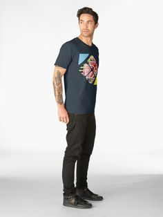 Super quality tee-shirt with a unique, limited edition design by PiccoGrande. Check out the Mix and Match collection to find your favorite ones Mouth Mask Fashion, Tee Shirts, Tees, Matching Outfits, Blue Shorts, Tshirt Colors, Fitness Models, Casual Outfits, Mens Fashion
