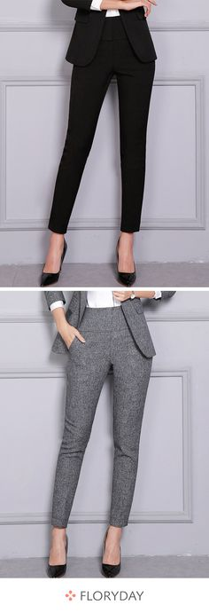 I love these comfortable work pants. Moda Outfits, Blazer Outfits, Dress Outfits, Look Fashion, Trendy Fashion, Court Outfit, Vintage Dress Patterns, School Fashion, Office Outfits