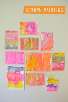 Scrape Painting with Kids