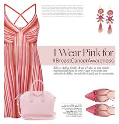 """""""Breast Cancer Awareness"""" by katsin90 ❤ liked on Polyvore featuring La Perla, Kate Spade, Givenchy, Jose & Maria Barrera and Avenue"""