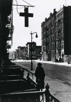 Harlem Street at the Lord's Cross, 1943  From Bare Witness: Photographs by Gordon Parks