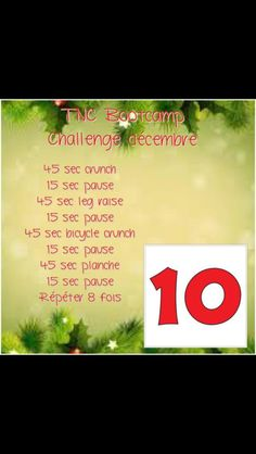 Day 10. Advent training calendar. Follow us on facebook for everyday 15 minutes intense training until christmas! #TNCBootcamp