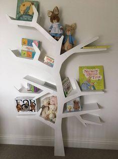 60 top expressions of love easy modern diy storage ideas for kids 57 Tree Bookshelf, Nursery Bookshelf, Tree Shelf, Bookshelves Kids, Bookshelf Design, Tree Book Shelves, Diy Toy Storage, Kids Storage, Storage Ideas