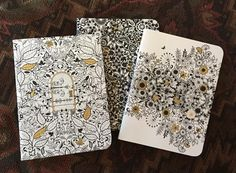 Here are all three mini journals. by akcaraboo