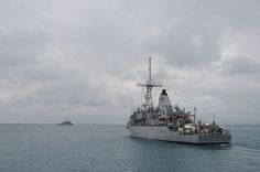 Mine countermeasure ship USS Patriot (MCM 7) departs White Beach Naval Facility to join up with USS Chief (MCM 14) as they prepare to conduct squadron level mine countermeasure training which includes mine hunting and mine sweeping.