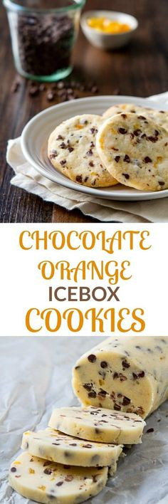 Learn how to get perfectly round cookies with this recipe for slice and bake Chocolate and Orange Icebox cookies. #cookies #holidaycookies #sliceandbake