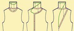 MK раскладка шерсти, Ну и два слова об изделиях с цельновалеными воротниками.