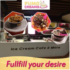 Fumo Creams Ice-Creams - fullfill your desire #IceCreamParlourInDelhi #SmokeIceCream #ColdRollIceCream #FumoCreams #IceCrreamShakes #LiquidNitrogenIceCream