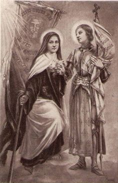 St. Joan of Arc was a great inspiration for St. Therese of Lisieux.