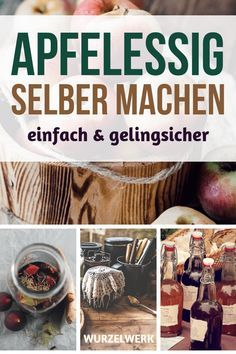 Apfelessig selber machen: Einfaches und gelingsicheres Rezept Making cider vinegar yourself: Here is a simple and successful recipe, with which you can make apple cider vinegar yourself. Healthy Food List, Healthy Salad Recipes, Detox Recipes, Tea Recipes, Make Apple Cider Vinegar, What Is Apple, Punch Recipes, Pumpkin Bread, Breakfast Bowls