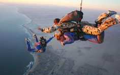 Skydiving in Swakopmund, Namibia - have yet to do this!