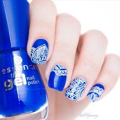 BORN PRETTY BP-L008 Nail Art Stamping Plates, Nail Stamping, Pretty Nail Art, Cool Nail Art, Feather Nail Art, Gel Nails, Nail Polish, Mandala Nails, Image Nails