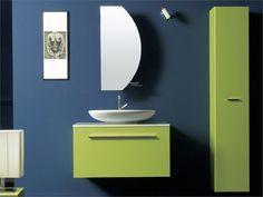 Móveis casa de banho em tom verde