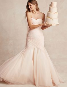 You like blush things...this is a whole blush thing? Bliss Monique Lhuillier Spring 2015