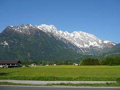 Hoher Göll (Gipfel rechts) von Osten (Kuchl)