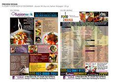 leaflet menu book