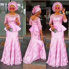 shares the hottest trends in African fashion. Order Aso-ebi lace, ankara, mens accessories & Aso Oke headties exclusively at ova-boutique Nigerian Lace Styles, African Lace Styles, African Lace Dresses, African Fashion Dresses, Ghanaian Fashion, Nigerian Dress, Nigerian Fashion, African Style, African Attire