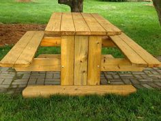 picnic table wood rectangle