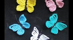 Tejer una mariposa - mariposa en crochet con subtitulo by BerlinCrochet - YouTube