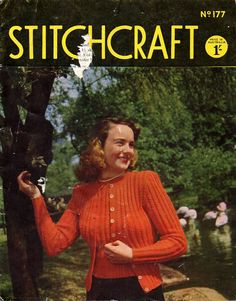 Stitchcraft Magazine September 1948 Knitting and Sewing Patterns by ATrifleBizarre on Etsy Cute Cardigans, Sweaters For Women, Men Sweater, Vintage Knitting, Vintage Sewing, Knitting Patterns, Crochet Patterns, Sewing Patterns, Knitting Magazine