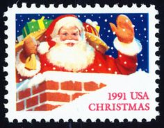 Season's Greetings 1991. First day ceremonies were in Santa, Idaho.