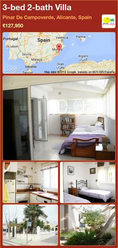 3-bed 2-bath Villa for Sale in Pinar De Campoverde, Alicante, Spain ►€127,950