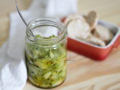 Abobrinha em Conserva. Receita fácil e saborosa, completinha em http://gordelicias.biz.
