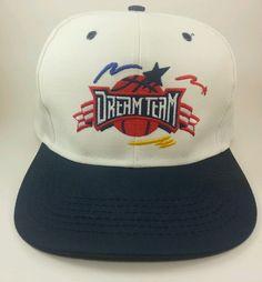 1fbb10f8ce27c Vintage Dream Team Snapback Hat Retro Basketball Snap Back 90 s One Size  Fits  SnapBack Snap