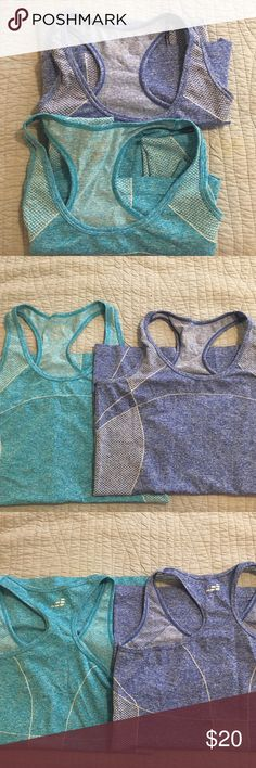Two workout tank tops. Gently used BCG tank tops, from Academy Sports. Breezy material and extra long to ensure full coverage. Tops Tank Tops