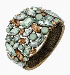 Lovely #mint jeweled bracelet http://rstyle.me/n/f6x9ur9te
