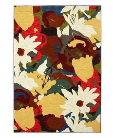Mayberry Rug Red & White Daisy Rug   zulily