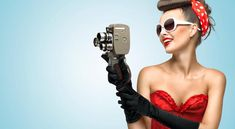 Buy The glamorous cinema is coming hot. by Fisher-Photostudio on PhotoDune. A photo of the pin-up girl in corset and gloves holding vintage camera. Elizabeth Gilbert, Kate Hudson, Gwyneth Paltrow, Pin Up Girls, Retro Pin Up, Photoshop, Pin Up Photography, Glamour, Julia Roberts