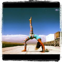 "Yoga Poses Around the World: ""Eka Pada Urdhva Dhanurasana - One-Legged Upward Bow Pose"""