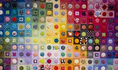 Gorgeous circles from International Quilt festival--posted by freshlemonquilts.com.  So fun and so many fabrics--but those circles must be tiny!