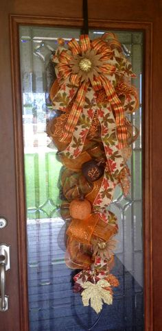 fall deco mesh swag - Google Search