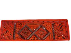 Patchwork Table Runner Red Indian Home Decor Wall Tapestry 60x20 Mogul Interior http://www.amazon.com/dp/B00L7TA1HA/ref=cm_sw_r_pi_dp_MZ4Qtb145NGG5B4K