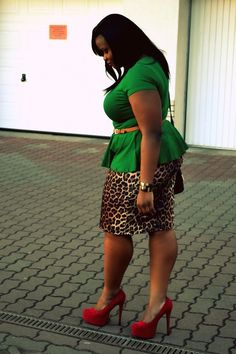 Green, Leopard, & Red (would not have thought this would work so well)