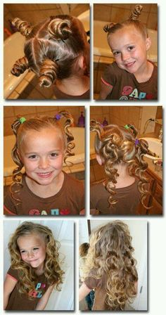 The easiest way for lovely curls