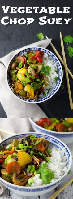 This Chinese vegetable chop suey is packed with flavor and it's so easy to make. Serve it over rice and you got a delicious and healthy vegan meal!