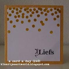 Stampin' Up!, Different Colors ---> Klaartje's kaartjes en meer...: a card a day...
