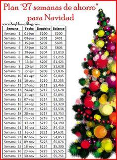 "Plan ""27 semanas de ahorro"" para Navidad   Soy Mamá Blog www.soymamablog.com"