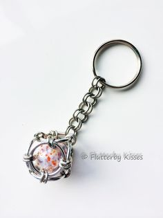 Captured Marble Chainmaille Keychain This great keychain comes in your choice of styles.. Simply choose your design from the drop down menu and