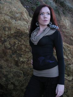 Cowl Hoodie with Moon phases appliqué Organic by HerbanDevi, $60.00 Hey, How come I didn't know you were famous??? Gorgeous! @Rhiannon Lundell @Sheila Marie