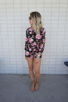 Floral Romper today on Lipstick & Jules -- #fashionblog #styleblog #beautyblog