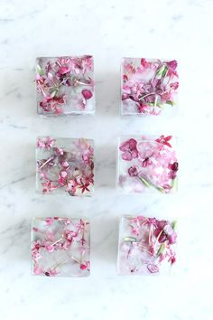 Homemade Floral Ice Cubes   Summer entertaining, summer party ideas and more from @cydconverse