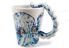 Octupus Handmade Coffee Mug (10cm x 8cm) by Blue Witch,