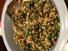 Wild Rice with Spinach and Green Onions (Vegan, Gluten Free, and Oil Free)