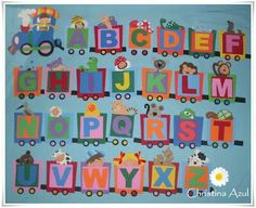 bruco portamatite - Buscar con Google Nursery Class Decoration, Classroom Wall Decor, Teacher Classroom Decorations, School Decorations, Classroom Walls, Classroom Themes, Art For Kids, Crafts For Kids, Alphabet Board