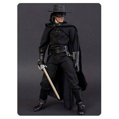 Inspired by novelist Johnston McCulley's tales. This Zorro Deluxe 1:6 Scale Action Figure features nobleman Don Diego de la Vega and stands 12-inches tall.